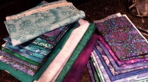 stacks of fabric